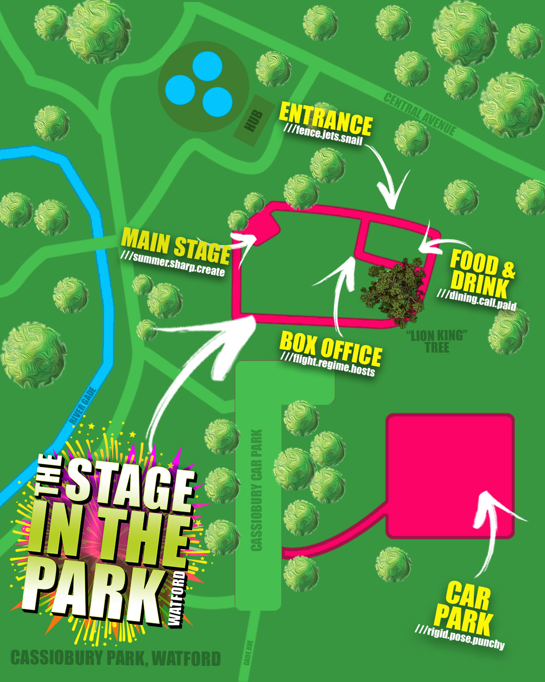 Stage in the Park map